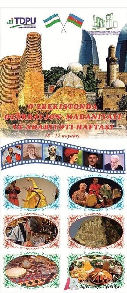 """Özbəkistanda """"Azərbaycan mədəniyyəti və ədəbiyyati həftəsi"""" keçiriləcəkdir."""